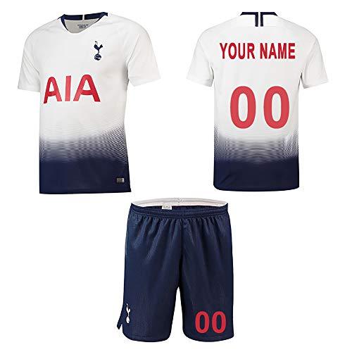 WFhome Camisetas de fútbol Personalizadas del Club de Club de fútbol Tottenham Hotspur Heimatfeld fútbol Personalizadas con Nombres y números de los Jugadores