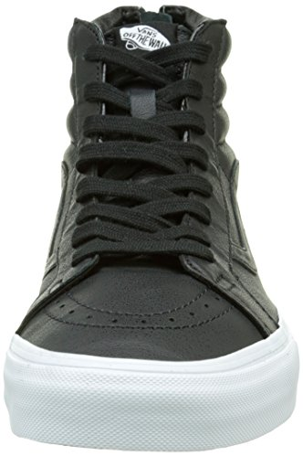 Vans Sk8-hi Reissue Zip Scarpe da Ginnastica Alte, Unisex – Adulto Nero (premium Leather/black/true White)