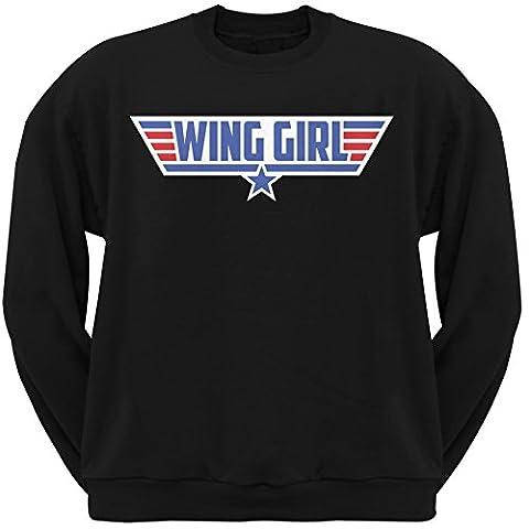 Wing Girl Black Adult Crew Neck Sweatshirt - Small