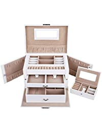 Songmics Elegant Jewellery Box Jewelery Storage Case Jewellery Organizer JBC121W