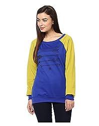 Yepme Dory Sweatshirt - Blue & Green -- YPMSWEAT5081_L