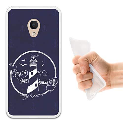 WoowCase Alcatel 1C DUAL SIM Hülle, Handyhülle Silikon für [ Alcatel 1C DUAL SIM ] Seefahrerstil- Leuchtturm Handytasche Handy Cover Case Schutzhülle Flexible TPU - Transparent