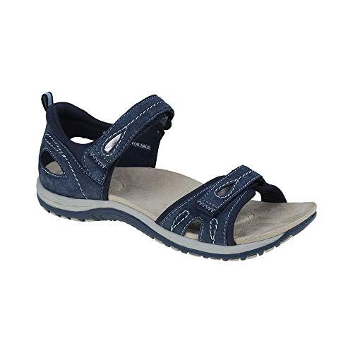 womens savannah double velcro strap sandals 30247 navy blue