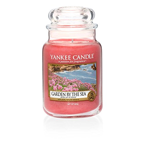 Yankee Candle Garden By The Sea Glaskerze, groß, orange