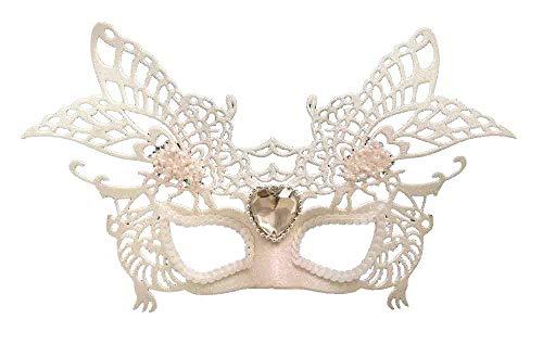 Glitter Ball Kostüm Fancy Dress - White Glitter Masquerade Maske - Fancy Dress - Schwarz-Weiß-Ball-Maske