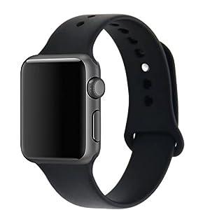 ZRO para Apple Watch Correa, Silicona Suave Reemplazo Correo de Sport Banda para 38mm iWatch Serie 2/ Serie 1 por ZRO Correa Apple Watch