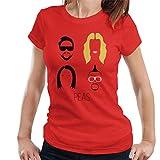 Photo de Black Eyed Peas Music Icon Silhouette Women's T-Shirt par Cloud City 7