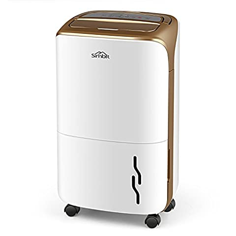 SIMBR Dehumidifier 20L/Day Portable Home Use Air Purifiers Smart Dehumidification With 3.5L Tank for Bedroom Wardrobe Basement (B - 20L/Day Home Dehumidifier Gold)
