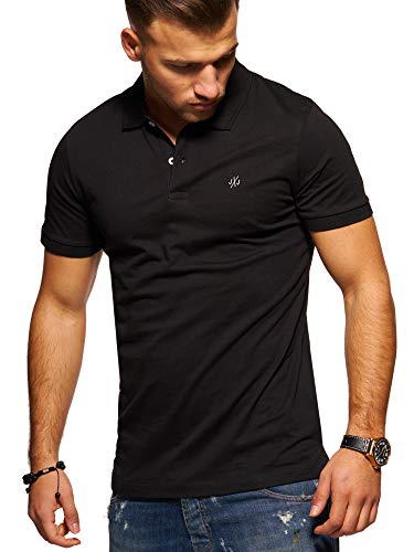 JACK & JONES Herren Poloshirt Polohemd Shirt Basic (Large, Black)