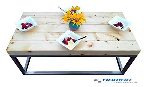 Namor Edelstahl Gartentisch | Terrassentisch | Kaffeetisch | Balkontisch | Sitzbank | 100x50 cm | Moderner Rahmen | Made in Germany