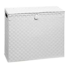 Toilet Roll Holder Bathroom Multipurpose Storage Unit Polypropylene Woven on Metal Frame, Ideal Addition to Bathroom or Toilets by Arpan (White)