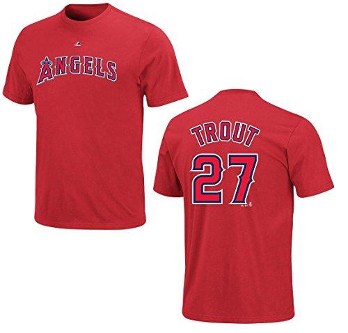 MLB Baseball T-Shirt LOS ANGELES ANGELS Mike Trout #27 rot in XXL (2XL) (Angels Baseball-shirt)