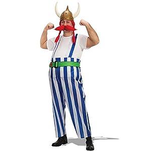 Carnival Toys - Disfraz vikingo en bolsa, talla única, color rojo (80435)