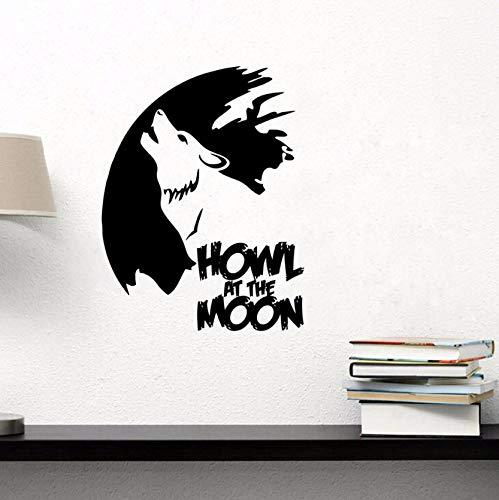 uf Dem MondWandkunstWandAufkleberHome DecorWandapplikationenWohnzimmer SchlafzimmerWandtattoos 43X53Cm ()