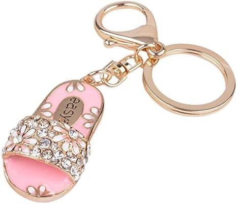 Cdet Porte-clés Décor Pendentif Sac à main main main Pour porte-clés Créatif Cadeau Décoration Forme de pantoufles 1PC 11.5x2.7x5cm   Achats En Ligne  8735de