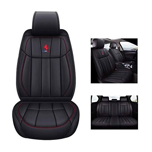Four Seasons Leder Gm Sitzabdeckung für alle Modelle des Audi Q3 Q7 Q5 A5 A3 8V A4 B6 B9 B8 C7 A6 C6 Suv Fünf-Sitz Autositz,Schwarz