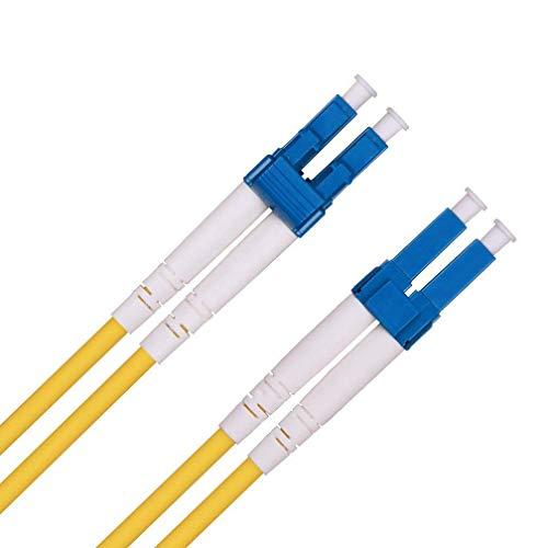 LWL Patchkabel 20m, LC zu LC OS1/OS2 Singlemode Duplex 9/125 Glasfaser Kabel (LSZH) für 10 Gb/Gigabit SFP Transceiver, MEHRWEG -