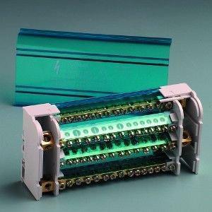 IDE 48656 Blöcke, in 125 A, 4-polig, Eingang 1 x 9,5 mm