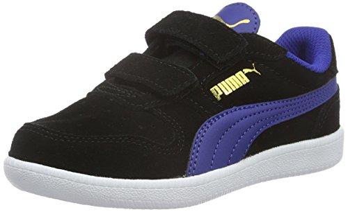 Puma Unisex-Kinder Icra Trainer Sd V Ps Low-Top Schwarz (puma Black-Mazarine Blue 10)