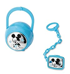 Idea Regalo - Valenti&Co_Set box e spilla portaciuccio_Argento_Mickey Mouse_Disney