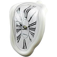 Jedfild Personalità creativa orologio pensile soggiorno studio orologio da parete Orologio a campana di quarzo Orologio silenzioso orologio orologio orologio da tavolo, 8 pollici (20 cm di diametro), Roma white