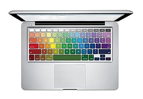 NetsPower® Full Color Vinyl Decal Sticker clavier Décalque Autocollant Sticker Power-up Art Noir pour Apple MacBook Air 13