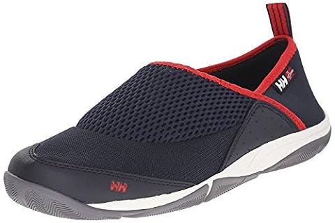 Helly Hansen - Watermoc 2 - Chaussures de pont - Homme - Bleu (Marine/Blanc/Rouge) - Taille: 44 EU (9.5 UK/10 US)
