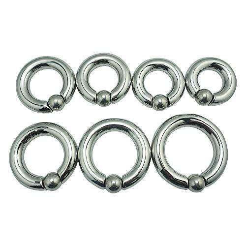 Circular Barbell Ring Sexspielzeug MäNner Masturbieren SS Teilbarer Cock Ring Ball-Stretcher Penis-ring Edelstahl Metall Erotik-Sextoys für Männer (45mm)