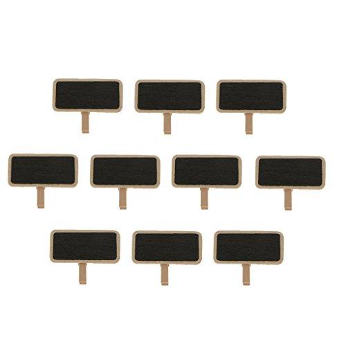 MagiDeal Lot de 10pcs Miniature Tableau Noir Court Décor Micro Paysage et Bonsaï