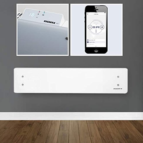 41wrj p1mjL. SS500  - Adax Clea WIFI Smart Electric Panel Heater, Wall Mounted With Timer, Low Profile Glass Conservatory Radiator. Splash Proof, Bathroom Safe, LOT 20 Compliant, Made In Europe