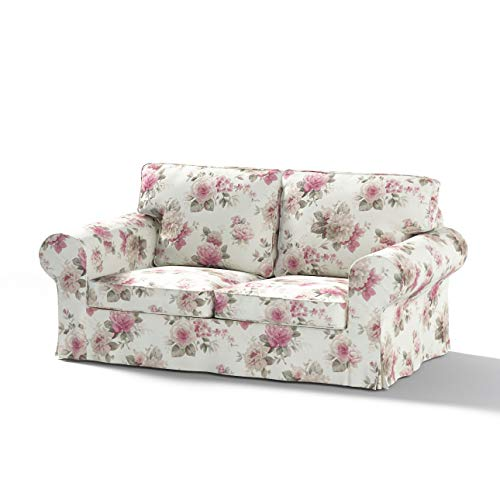 Dekoria Ektorp 2-Sitzer Schlafsofabezug ALTES Modell Sofahusse passend für IKEA Modell Ektorp beige- rosa