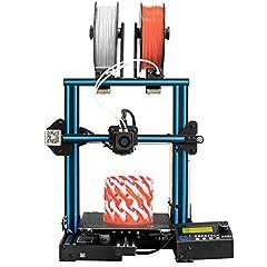 Idea Regalo - GEEETECH A10M Stampante 3D Con Supporto Per Due Colori, Doppio Estrusore, sensore per il controllo del filamente e sistema di recupero stampa, tutto in un kit DIY facile da ssemblare.