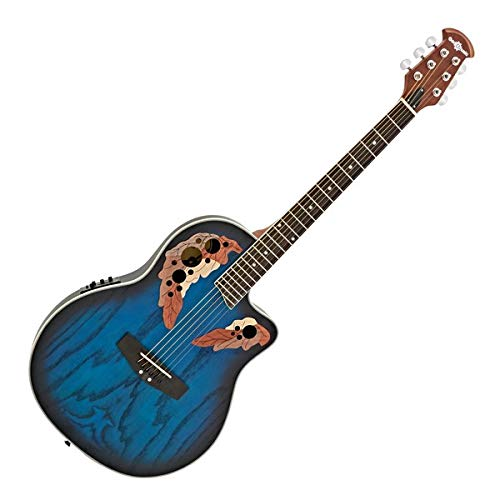 Guitare Électro-Acoustique Roundback Deluxe par Gear4music Blue Burst