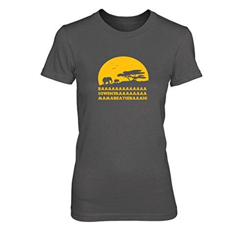 King of Africa - Damen T-Shirt Grau