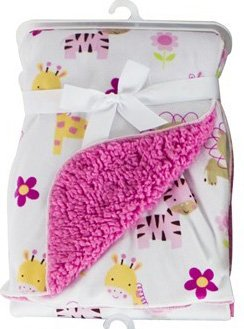 baby-blanket-soft-colourful-mink-sherpa-lining-printed-design-0months-30-wash-jungle-animals-pink