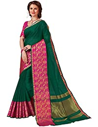 Shangrila Designer Heavy Zari Bordered Natural Color Dyeing Kota Silk Saree With Unstitched Blouse Piece (Dark...