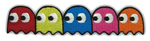 (Pac-Man Video Game Geister Pinky Blinky Inky Clyde Embroidered Iron on/Sew on Patch)