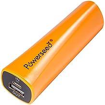 Powerseed® Rainbow, 2.400 mAh. Caricabatterie Mobile. Ricarica completa per un iPhone 5s, 80% per un iPhone 6, 70% per il Samsung Galaxy S6. Compatibile con tutti i dispositivi con porta di ricarica USB. Colore: Arancione