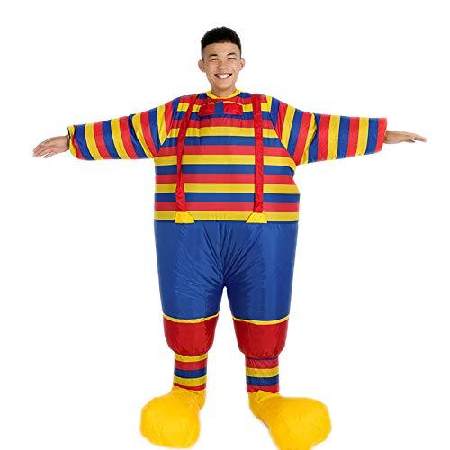 Clown Overall Erwachsene Kostüm Für - Aufblasbar Clown Overall Cosplay Erwachsene Kostüm Halloween Komisch Schick Passen Weihnachten Halloween Geschenk Für Erwachsene