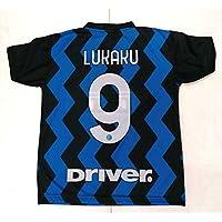 Maglia Calcio Inter Lukaku 9 Maglietta Replica Autorizzata 2020-2021 Bambino Ragazzo Uomo (S)