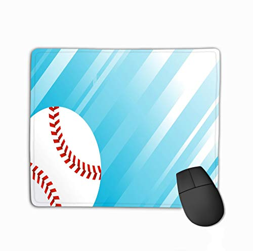 Mouse Pad Baseball Stitches Colored Rectangle Rubber Mousepad 11.81 X 9.84 Inch
