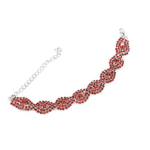 Bracelet, MMLC Sliver Bangle with Diamante Crystal Bracelet Jewelry Bracelet