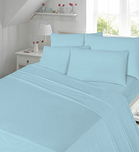 Extra Large luxury pillowcase Pair polycotton 21 x 31,To fit large pillow, box pillow, By Papa Jones Ltd (Aqua)