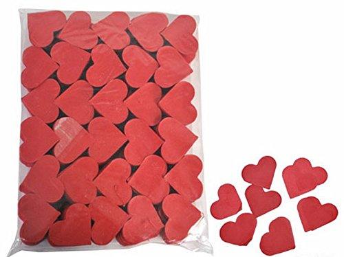 Coriandoli di carta a cuore rossi decorazione matrimonio san valentino