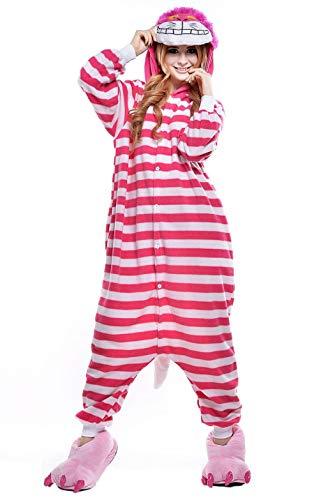 yjama Fleece Nachtwäsche Schlaflosigkeit Halloween Weihnachten Karneval Party Cosplay Kostüme für Unisex ()