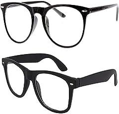 Sheomy Unisex Wayfarer Sunglasses(Transparent, Black,Trans_0002)- Set of 2