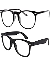 Sheomy Combo Of 2 Wayfarer Unisex Sunglasses(Trans_0002|55|Transparent, Black)