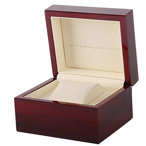 haiyang Watch Boxes Uhrenbox Lackiertem Holz PU Leder Interieur Schmuckschatulle Für Damen Herren