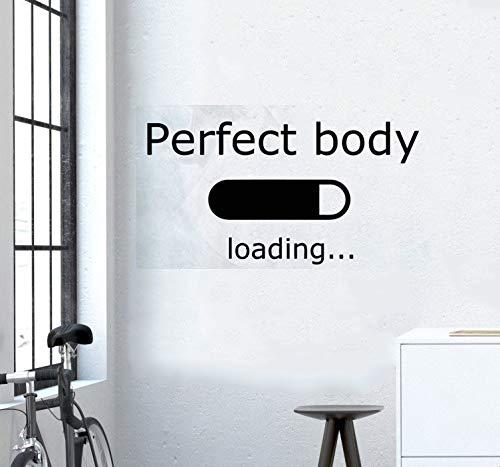 Sport Wandtattoos Aufkleber Fitness Sport Zitat Perfect Body Loading