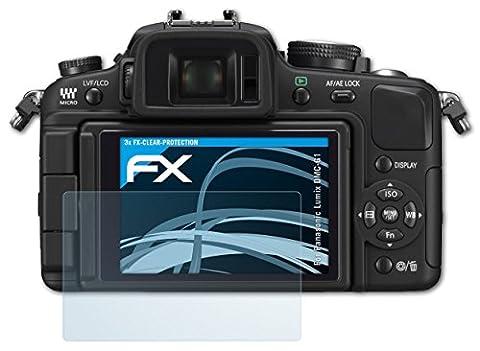 Panasonic Lumix DMC-G1 Schutzfolie - 3 x atFoliX FX-Clear kristallklare Folie Displayschutzfolie